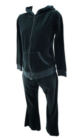 Black Velar Hoodie 2 Pc Motherhood Maternity Casual Suit (Gently Used - Size Medium/Small)