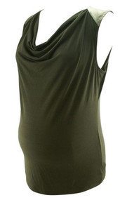 Black Drapes Motherhood Maternity Tank Blouse (Like New - Size Medium)