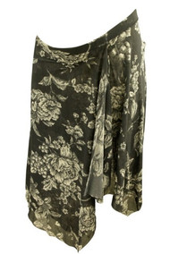 Gray Sweet Pea Maternity Floral Print Flowy Maternity Skirt (Gently Used - Size Small)
