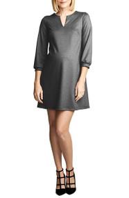 *New* Heather Charcoal Maternal America Layered Maternity Dress (Size X-Small)