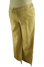 Beige Motherhood Maternity Linen Maternity Pants (Gently Used - Size Large)