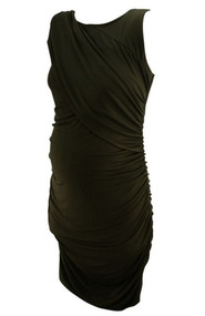 Black A Pea in the Pod Maternity Back Cut Out Special Occasion Maternity Dress (Like New - Size Large)