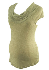 Gray Splendid Maternity for A Pea in the Pod Maternity Cowl Neck Maternity Top (Gently Used - Size Small)