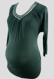 *New Black Sequence 3/4 Sleeve Three Seasons Maternity Tee (Size Small)