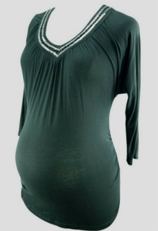 36818bacd4bcb New Black Sequence 3/4 Sleeve Three Seasons Maternity Tee (Size ...