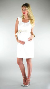*New* White Eden Maternity Dress by Madeleine Maternity (Size Small)