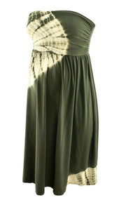 Gray Tie Dye Nom Maternity Strapless Maternity Summer Dress (Like New - Size X-Small)