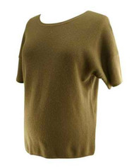 Dark Taupe 100% Cashmere Vince Maternity Short Sleeve Sweater (Gently Used - Size X-Small)