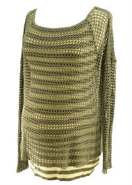 Gray Bailey 44 for A Pea in the Pod Collection Mesh Maternity Light Sweater (Gently Used - Size Small)