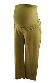 Tan Motherhood Maternity 3/4 Career Pants for Summer (Gently Used - Size Medium)