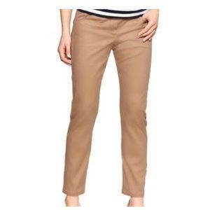 660f1be52be New  Tan Khaki Skinny Mini Cropped Maternity Pants by Gap Maternity ...