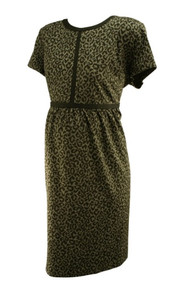Black Gray Animal Print Loft Maternity Thick Maternal Maternity Dress (Like New - Size 16M)