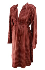 *New* Floral Burgundy Shirt Dress by Loft Maternity (Size XX-Large)