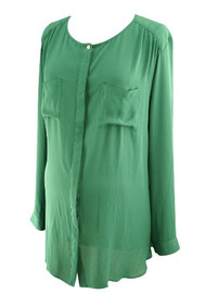 *New* Forest Green Loft Maternity Pocket Blouse (Size XX-Large)