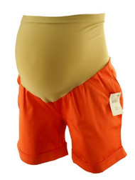 *New* Bright Orange A Pea in the Pod Maternity Shorts for the Summer (Size X-Small)