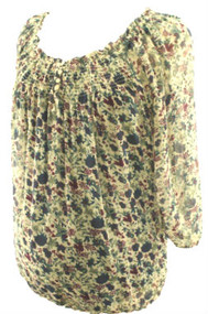 Floral Thyme Maternity Blouse with Cami (Gently Used - Size Petite Small)