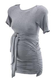 Gray Isabella Oliver Maternity Wrap Maternity Short Sleeve Top (Like New - Size 0 / USA 0-2)