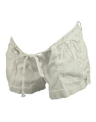 White A Pea in the Pod Maternity Summer Shorts (Gently Used Size Medium)