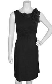 *New* Black  Ruffled Petal Japanese Weekend Maternity Dress (Size Small)