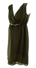 *New* Black Noppies Maternity Cinched Belted Maternity Dress (Size Small)