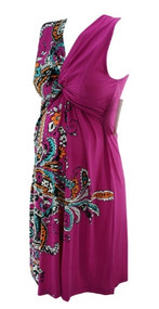 *New* One Sided Floral Fuschia JW Japanese Weekend Maternity Dress (Size Small)