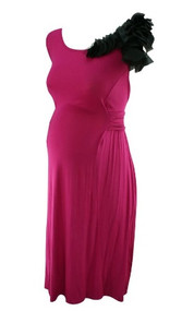 *New* Fuschia JW Japanese Weekend Maternity Ruffle Dress (Size Small)