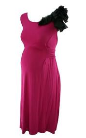*New* Fuschia JW Japanese Weekend Maternity Ruffle Dress (Size Small)