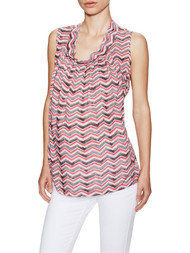*New* Pink Chevron Print Loyal Hana Nicole Sleeveless Nursing Blouse