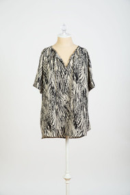 *New* Abstract Black  Loyal Hana Maternity Julie Nursing Blouse (Size Medium)