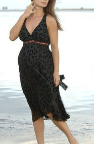*New* Nicole Michelle Maternity Bronze Trimmed Leopard Burnout Maternity Dress (Size- X-Large)