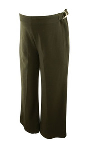 Black Motherhood Maternity Career Pants with Adjustable Waist Zippers and Buckles (Gently Used - Size Small)
