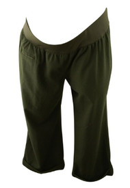 Black Liz Lange Maternity for Target Career Cuffed Maternity Capri Pants (Gently Used - Size 4)
