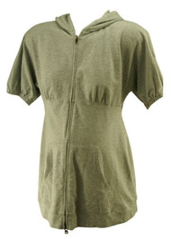 Gray GAP Maternity Short Sleeve Hooded Tunic Maternity Sweater (Gently Used - Size Small)
