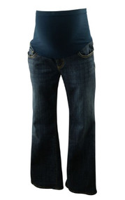 Medium Wash !It Maternity Jeans Straight Leg Maternity Jeans (Gently Used - Size 30)
