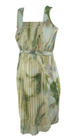 Mixed Watercolor Simply Vera Wang Maternity Pleated Maternity Dress for a Special Occasion (Gently Used - Size Small)