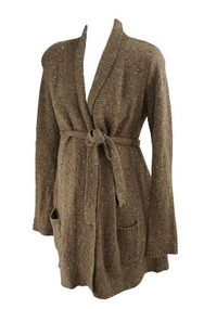Tawny Brown A Pea in the Pod Maternity Thick Winter Sweater Cardigan (Gently Used - Size Medium)