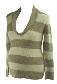 Cream & Beige Motherhood Maternity Striped Long Sleeve Sweater (Secondhand - Size Medium)