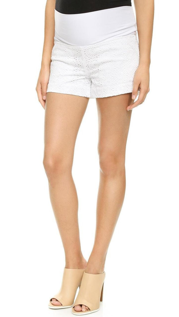 c0fc12fbad8bb ... *New* White Rosie Pope Maternity Columbia Shorts (Size X-Large). Image 1