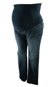 Indigo Blue Maternity Straight Leg Maternity Jeans (Gently Used - Medium)