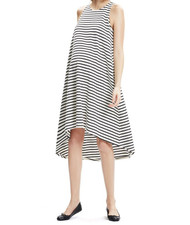 Black & Cream Hatch Maternity Nantucket High Low Dress (Like New - Size One / 2-4 USA)