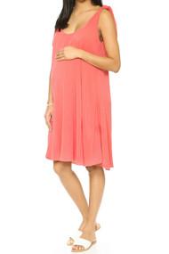 Coral Hatch Maternity Picnic Dress (Like New - Size One/ 2-4 USA)