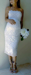 *New* Ivory Lace Nicole Michelle Maternity Strapless Dress