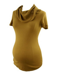 Camel A Pea in the Pod Maternity Ribbed Cowl Neck Maternity Sweater (Gently Used - Size Small)