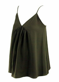Black Hatch Maternity Designer Sleeveless Tank Cami with Gathering Detail (Like New - Size One / 2-4 USA)