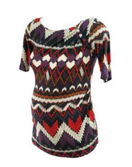 Color Block Western Wear for A Pea in the Pod Maternity Aztec Print Top (Gently Used - Size Medium)