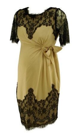 ee48e1bab83 Nude with Lace Trim Seraphine Luxe Maternity Dress (Like New - Size ...