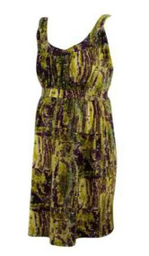Green & Purple Japanese Weekend Maternity Mixed Print Tunic (Pre-Loved - Size Large)