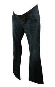 Medium Wash Old Navy Maternity Woven Waist Band Boot Cut Jeans (Gently Used - Size 10)