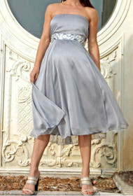 *New* Platinum Diamond Audrey Maternity Gown Maternity Dress by Nicole Michelle Maternity (Size Small)