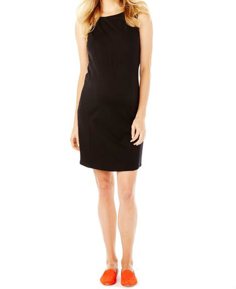 2b266d7a66bd2 ... *New* Black Rosie Pope Maternity Shift Maternity Claire Dress (Size -  Large). Image 1